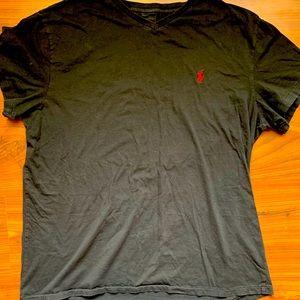 FREE Men's Polo Ralph Lauren Black T shirt Large